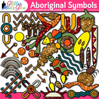 Aboriginal Symbols Clip Art {Australian Native Art, Dreamtime for Scrapbooking}