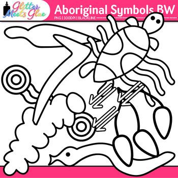 Aboriginal Symbols Clip Art: Australian Graphics B&W {Glitter Meets Glue}