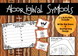 Aboriginal Symbols - Write the Room and Boomerang Design *Naidoc Week