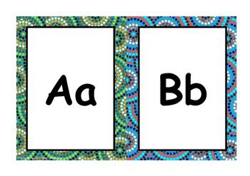 Aboriginal Themed Alphabet Posters