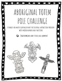 Aboriginal Totem Pole Challenge: Subtracting Mixed Numbers