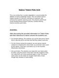 Aboriginal Totem Pole Unit