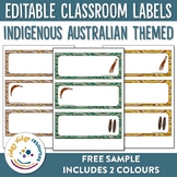 Aboriginal editable classroom labels sample