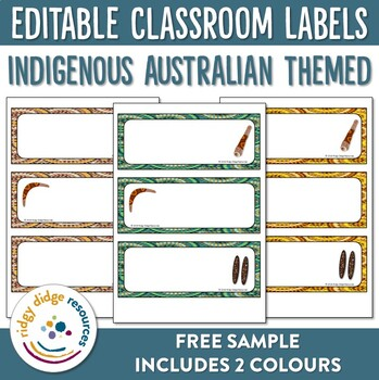 Aboriginal multi-purpose editable classroom labels