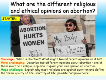 Abortion : Pro Life + Pro Choice
