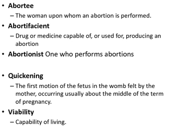 Abortion: When does a fetus become human?- history, definitions,more lesson plan
