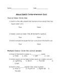 About Earth Comprehension Quiz