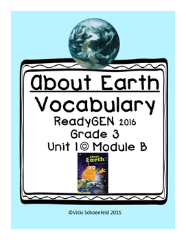 ReadyGEN About Earth Vocabulary
