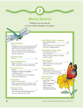 About Insects: Art and Cooking Activities