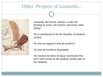 About Leonardo da Vinci, an Overview