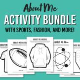 About Me Activities / Super Bundle