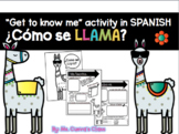 About Me Activity In Spanish For the First Day of School: ¿Como se llama?