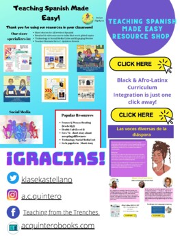 Freebie -All About Me Activity for Spanish 2 +
