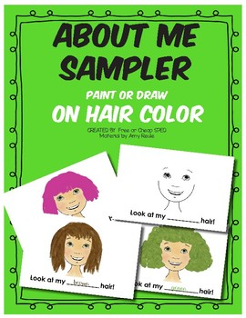 About Me Artwork- Drawn or Paint Hair Sampler
