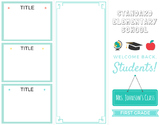 About Me / Back to School Teacher Trifold Brochure - Editable