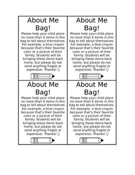 About Me Bag