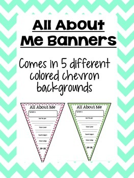 About Me Banners - Chevron Style!