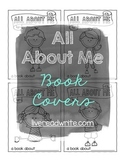 Colorable About Me Book Covers