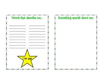 About Me Booklet Survey Questionnaire