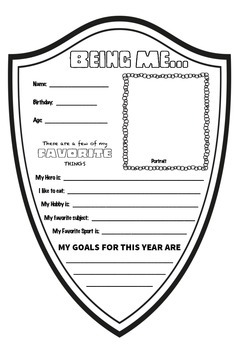 """All About Me"" Back to School Worksheet"