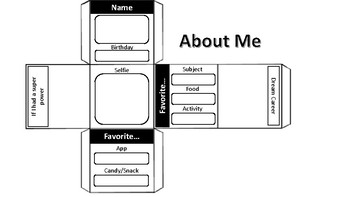 About Me Cube: Middle School