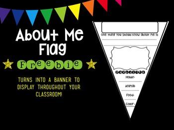 About Me Flag Freebie