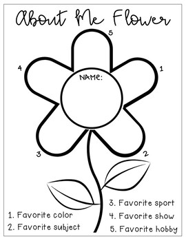 About Me Flower