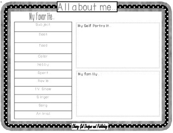 About Me! Guided Writing Journal