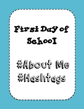 About Me #Hashtag