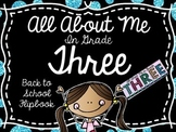 About Me In Grade Three- Back to School Flipbook
