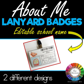 About Me Badges (Editable School Name)