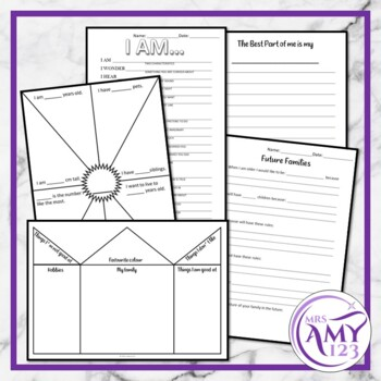 About Me Activities-Graphs, Banners, Poems and More
