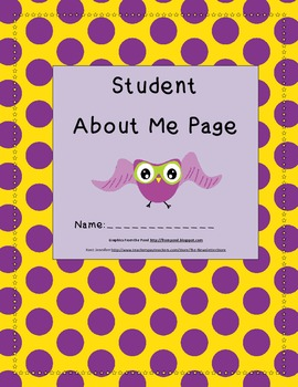 About Me Pages (Printable)