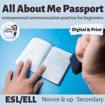 About Me Passport - Personal Information Review Speaking Activity - ESL/ELL/ELD