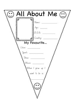 About Me Pennant
