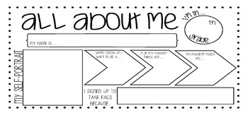 About Me Placemat