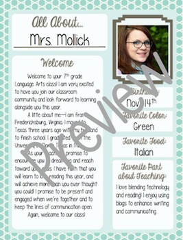 About Me Poster: 15 Teal and Brown Designs