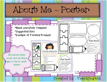 About Me Poster Back to School