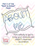 """About Me Poster-Part 1 of """"Back to School"""" pack!"""