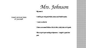 About Me PowerPoint for Teacher