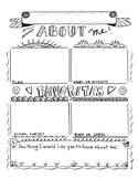 About Me: Printable Activity Sheet