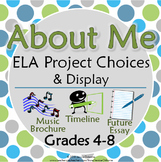 All About Me Project Choices