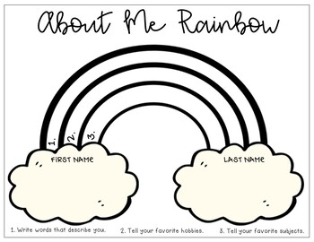 About Me Rainbow