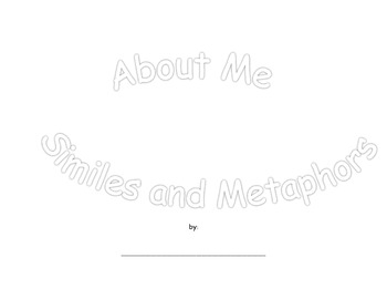 About Me Similes and Metaphors Flip Book