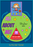 About Me Spinning Wheel {Back To School Activity}