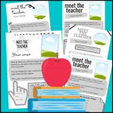 Teacher Templates: About Me Teacher -Editable Templates