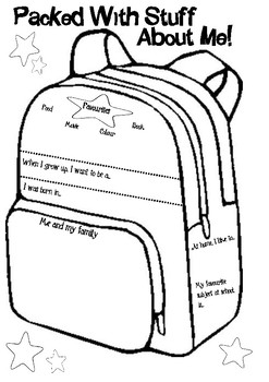 About Me Virtual Backpack Activity