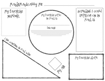 About Me Worksheets - The Grade School Garden