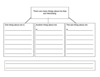 About Me Writing Graphic Organizer