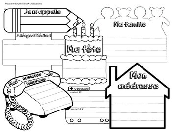 About Me for My Teacher in English & French- September Prep